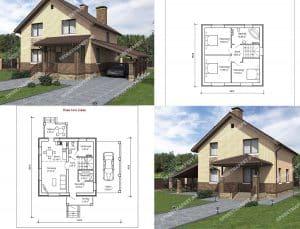 Пример 1 - проект дома на заказ gs-125