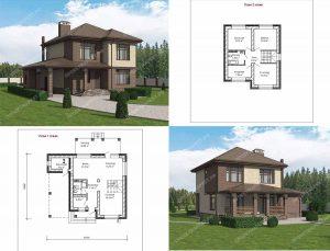 Пример проекта загородного дома К-128А