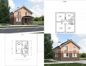 Пример проекта загородного дома ГС-140