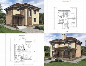 Пример проекта загородного дома ГС-146