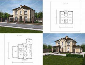 Пример проекта загородного дома ГС-163А