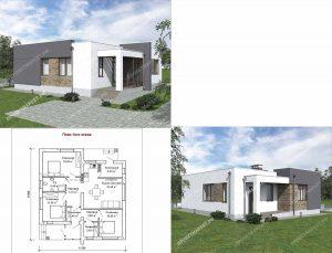 Пример проекта загородного дома ГС-92