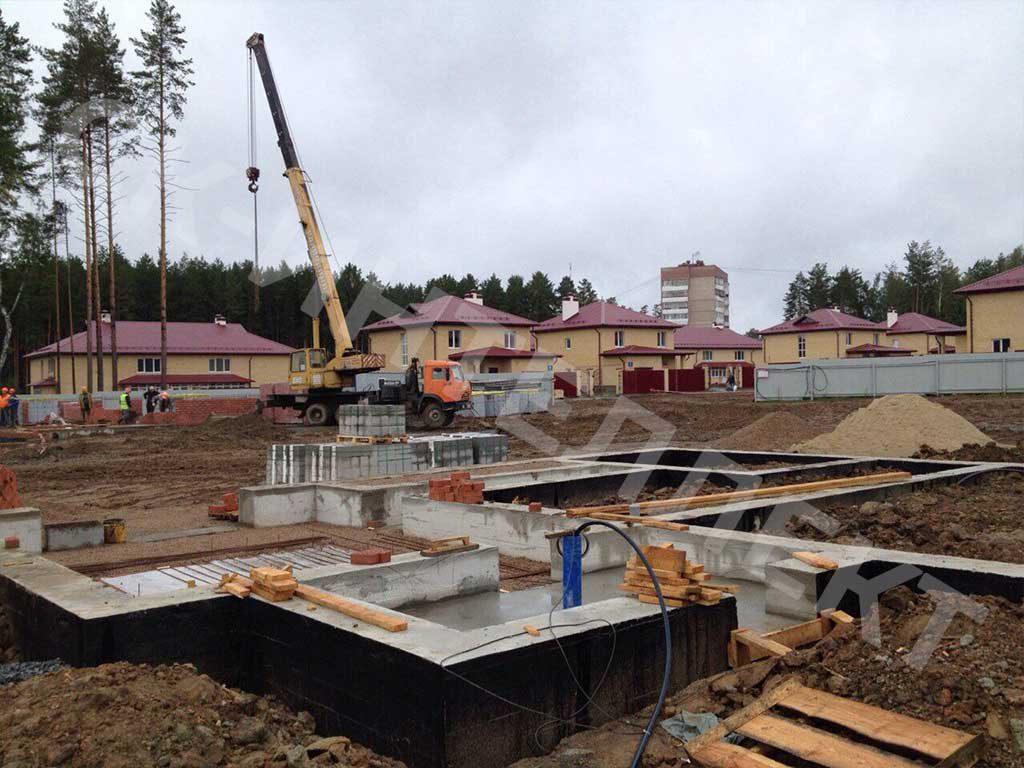 Фото 6 - строим фундамент под дом из теплоблока по проекту