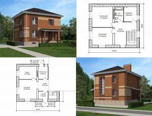 Пример проекта загородного дома К-120