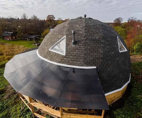 Строительство купольных крыш