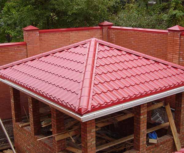 Строительство шатровой крыши