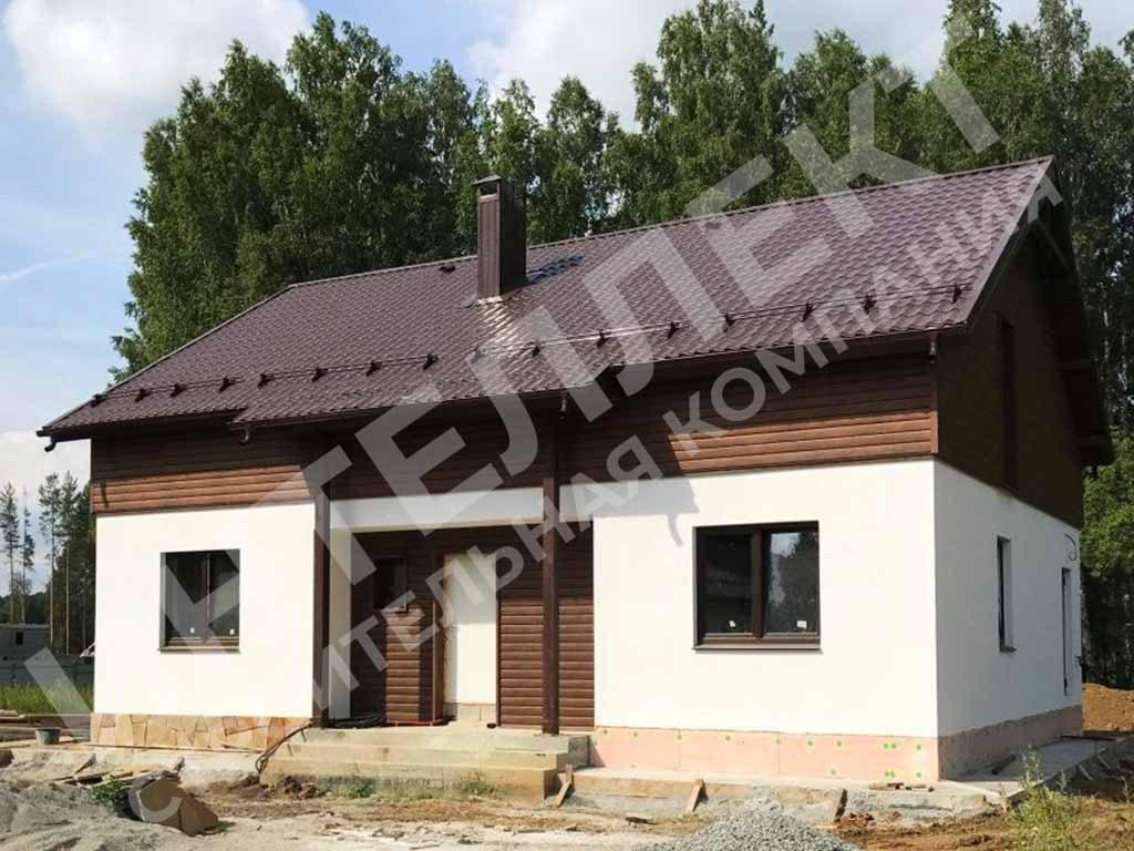 Дом из твинблока построенный в Екатеринбурге