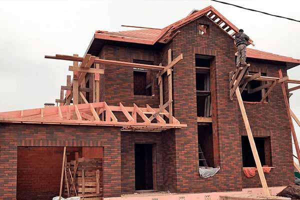 Этап строительства крыша (кровли) для дома из керамоблоков