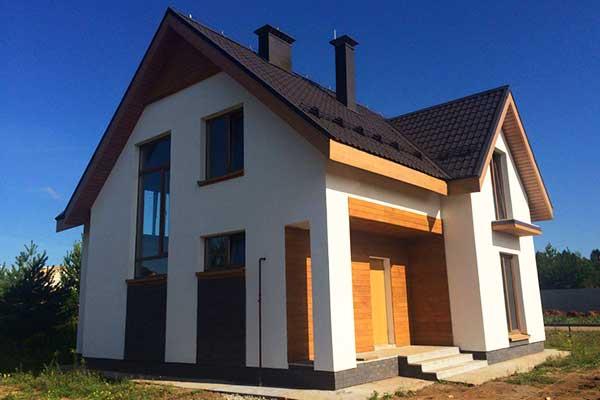 Готовый дом из твинблоков с отделкой