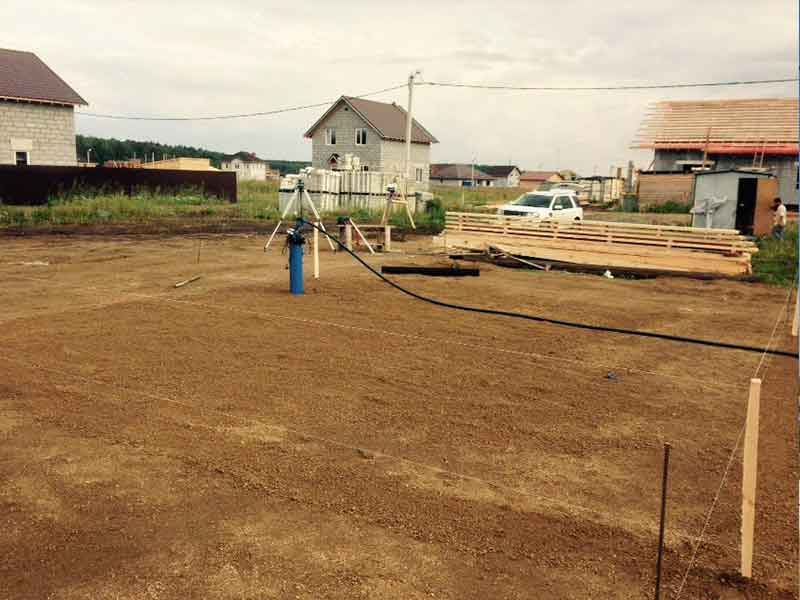 Подготовка участка под строительство фундамента