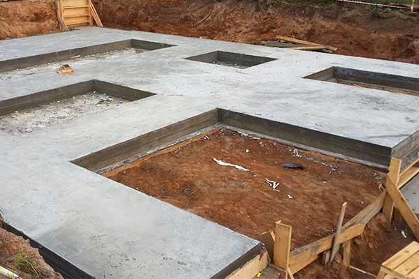 Строим фундамент для дома из твинблока