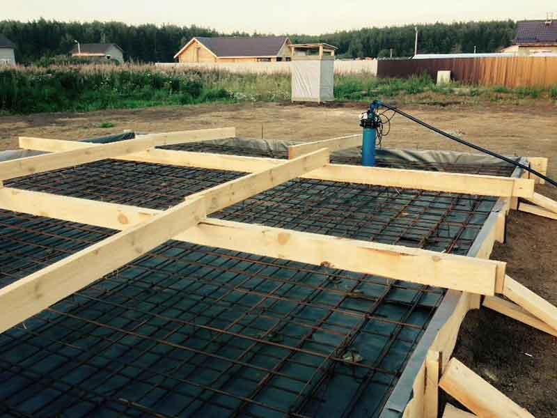Строительство фундамента под дом из теплоблока
