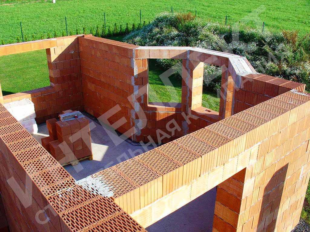 Строительство загородного дома из керамических блоков под ключ по индивидуальному проекту