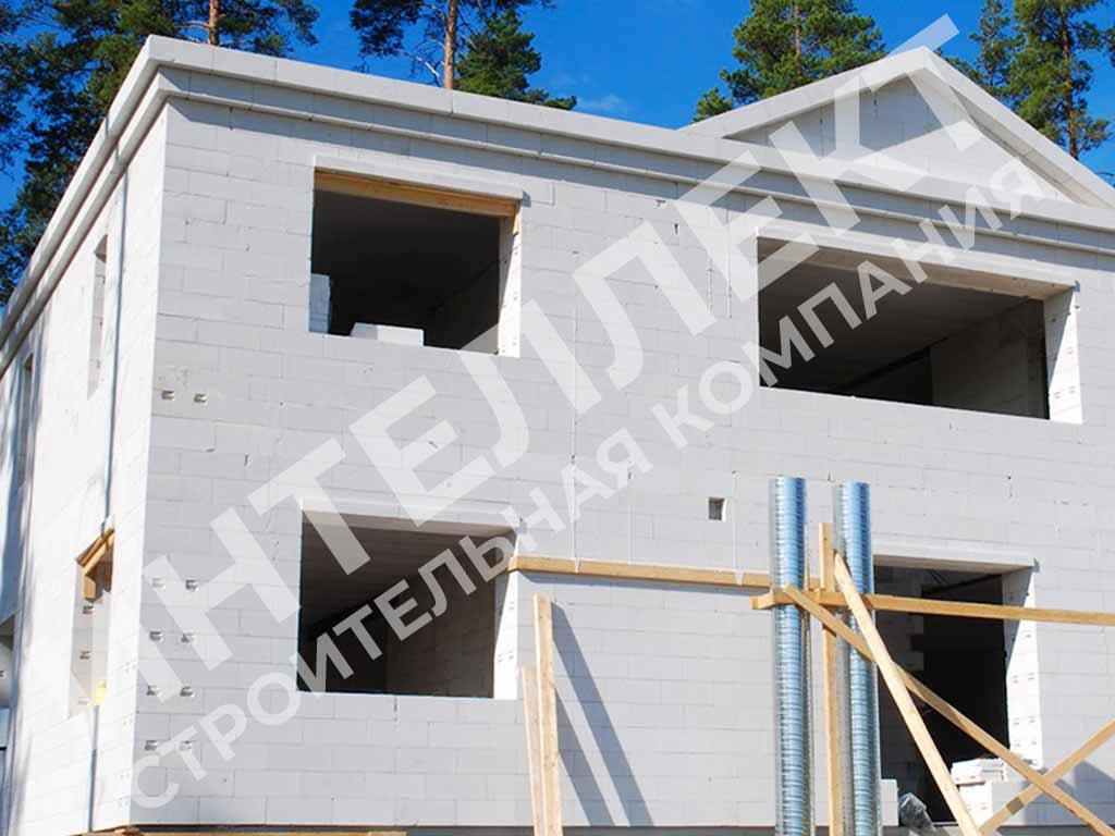 Вид коробки дома из твинблоков - фото 1