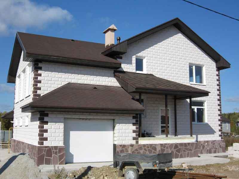 Внутренняя и внешняя отделка дома из теплоблока и сдача объекта