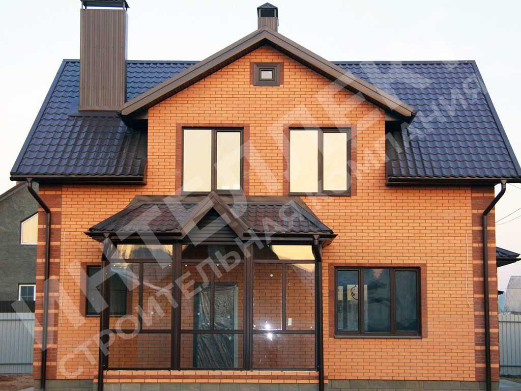 Фото законченного проекта - дом из кирпича двухэтажный