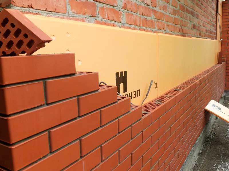 Строительство стен из кирпича по проекту строительства дома