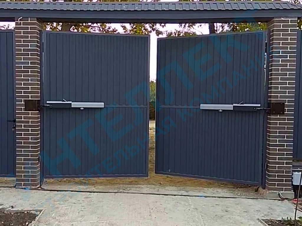 Автоматические распашные ворота под ключ