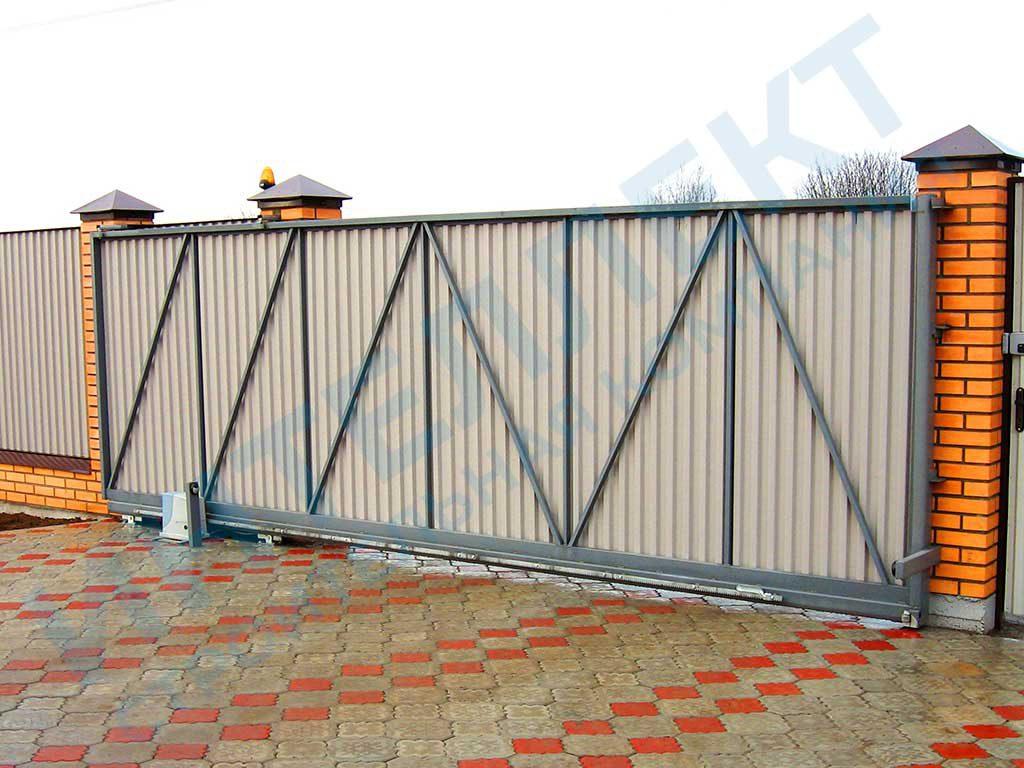 Установили раздвижные автоматические ворота в дачном посёлке Екатеринбурга