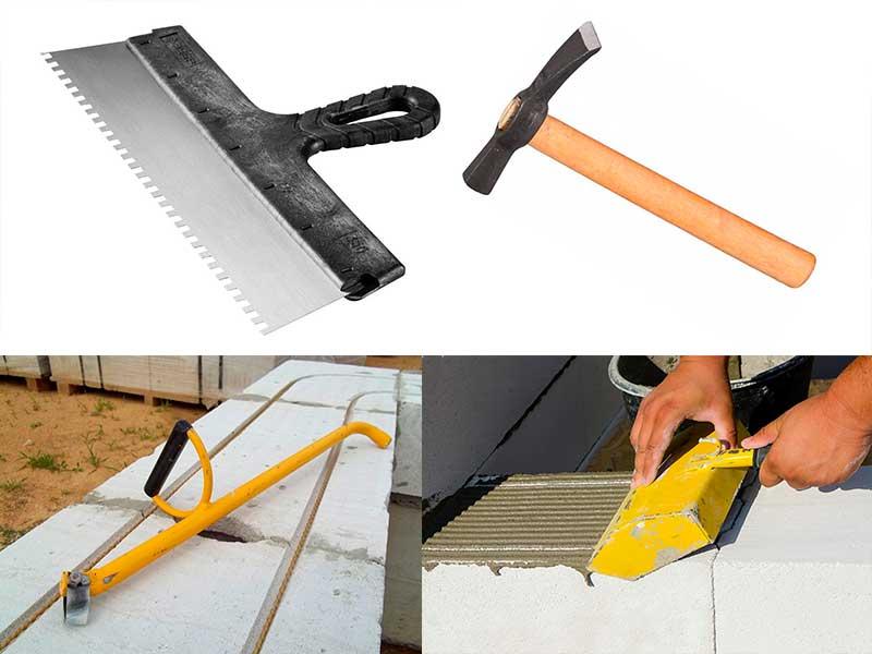 Инструменты для строительства дома из пеноблока