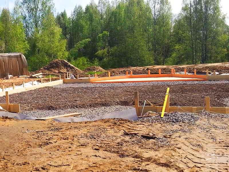 Подготовка участка к строительству дома из пеноблока