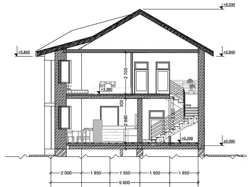 Разработка проекта дома из пеноблока 10 на 10