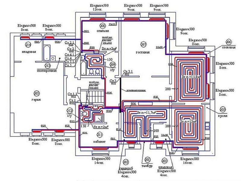 Составление проектной документации системы отопления