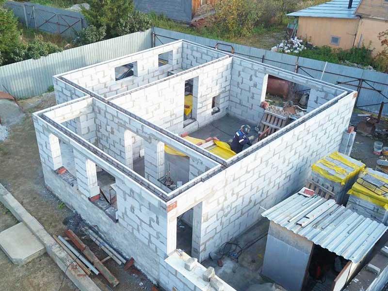 Строительство дома из пеноблока 10 на 10