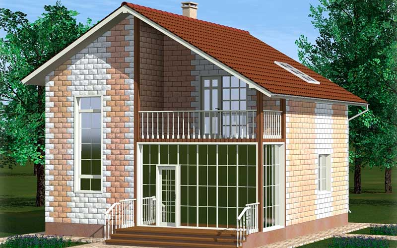 Создание проекта дома 8 на 8 из теплоблоков