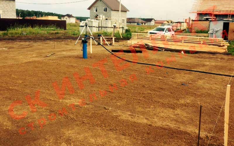 Подготовка участка для строительства дома из теплоблоков 8 на 8