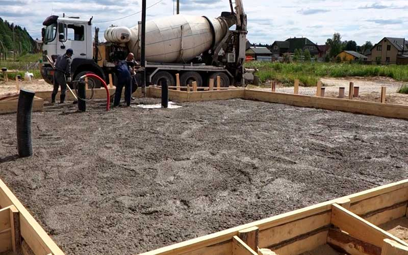Подготовка участка к строительству фундамента для дома из твинблока 8 на 8