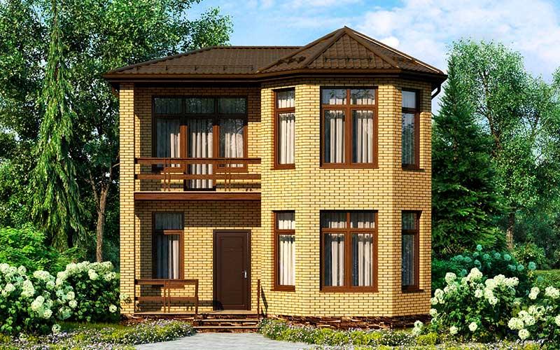 Создание проекта дома из кирпича 10 на 10
