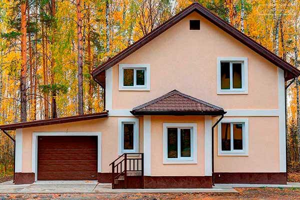 Строительство дома из твинблоков 8 на 8