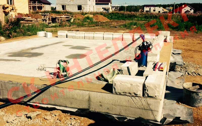 Строительство фундамента для дома из теплоблоков 8 на 8