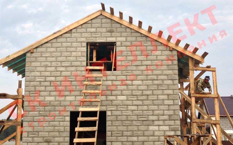 Строительство кровли дома из теплоблоков 8 на 8
