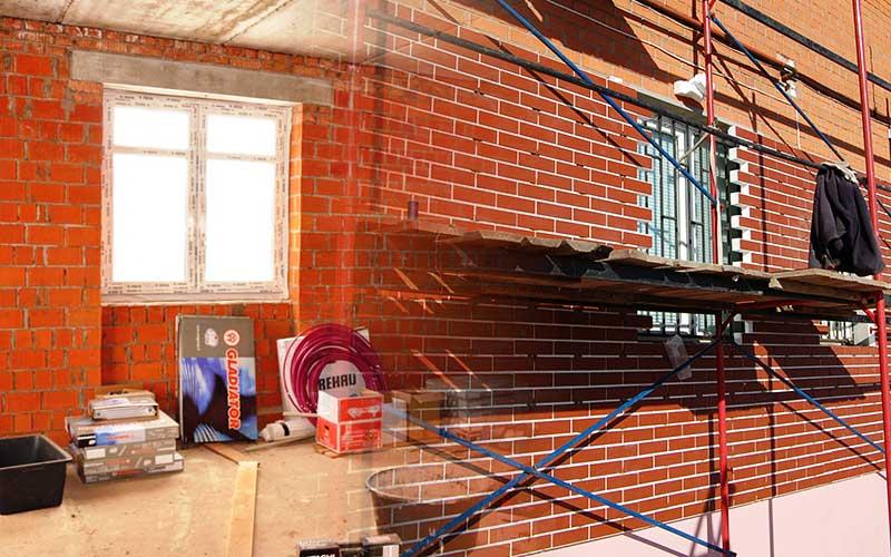 Внутренняя и внешняя отделка дома из кирпича 10 на 10