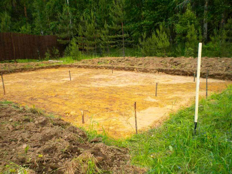 Подготовка участка под строительство одноэтажного дома 10 на 10