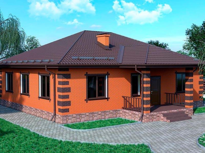 Проектирование одноэтажного дома 10 на 10