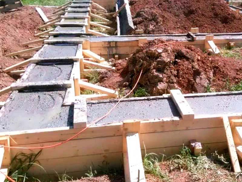 Строительство фундамента для одноэтажного дома 10 на 10