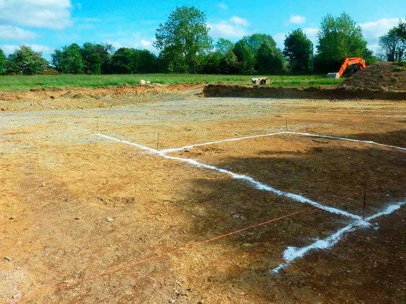 Подготовка участка для строительства дома из газобетона (пенобетона)