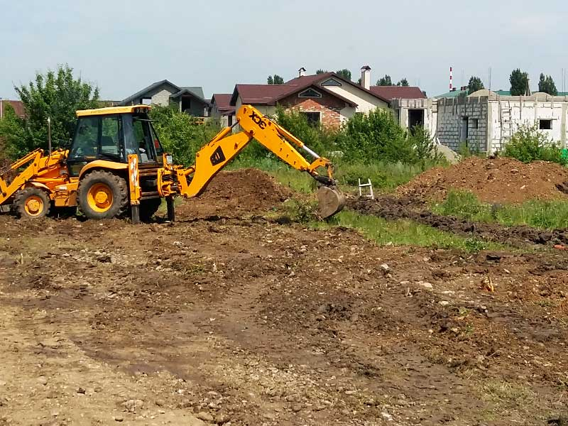 Подготовка участка под фундамент для строительства дома