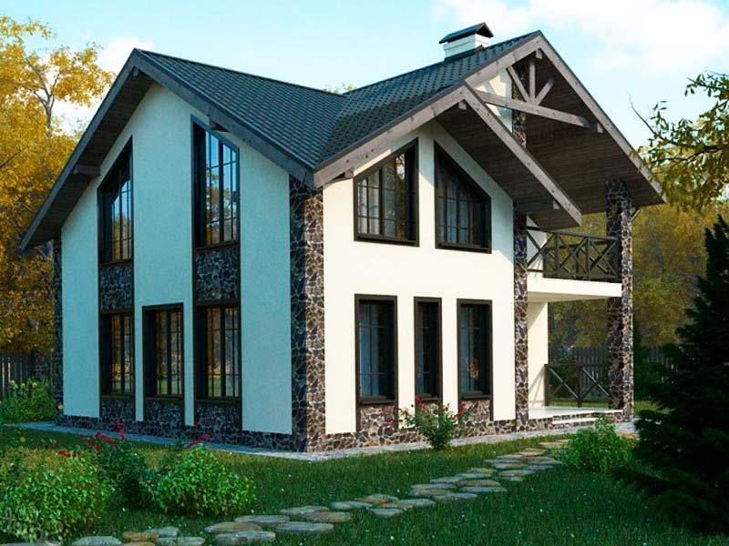 Проект дома из пенобетона