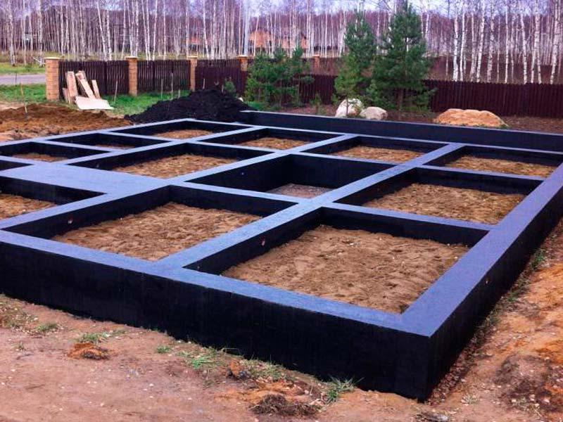 Строительство фундамента для дома из пенобетона (газобетона)