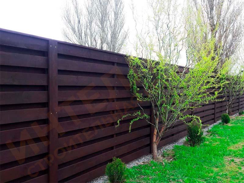 Деревянный забор - пример работы готового забора номер 1