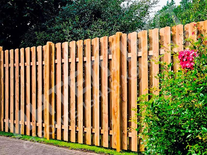 Деревянный забор - пример работы готового забора номер 2