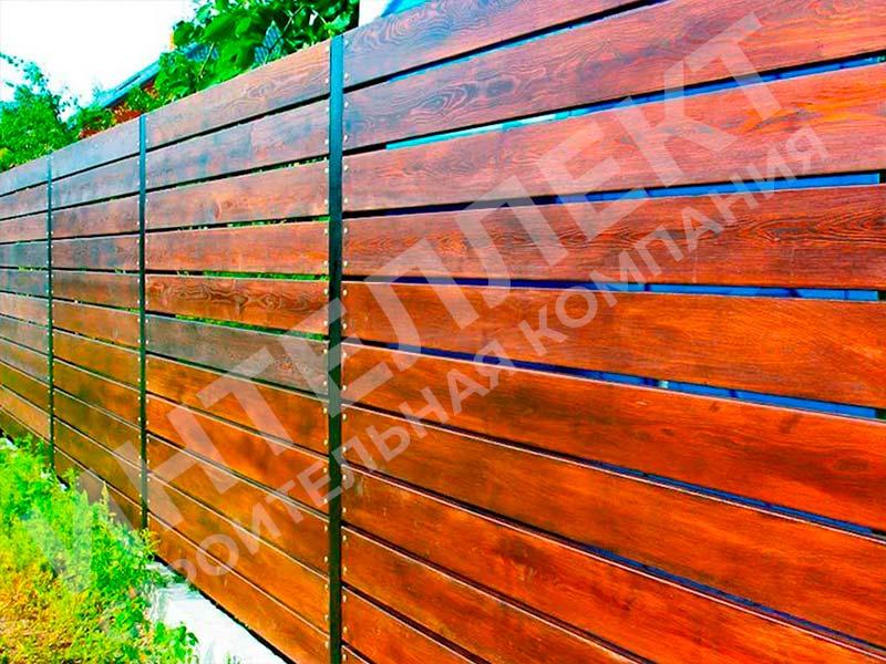 Деревянный забор - пример работы готового забора номер 3