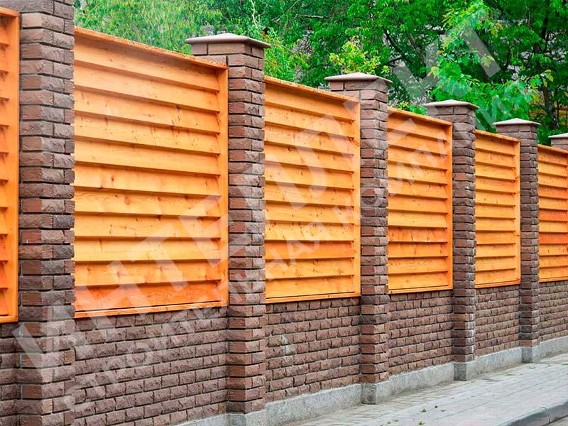 Деревянный забор - пример работы готового забора номер 4
