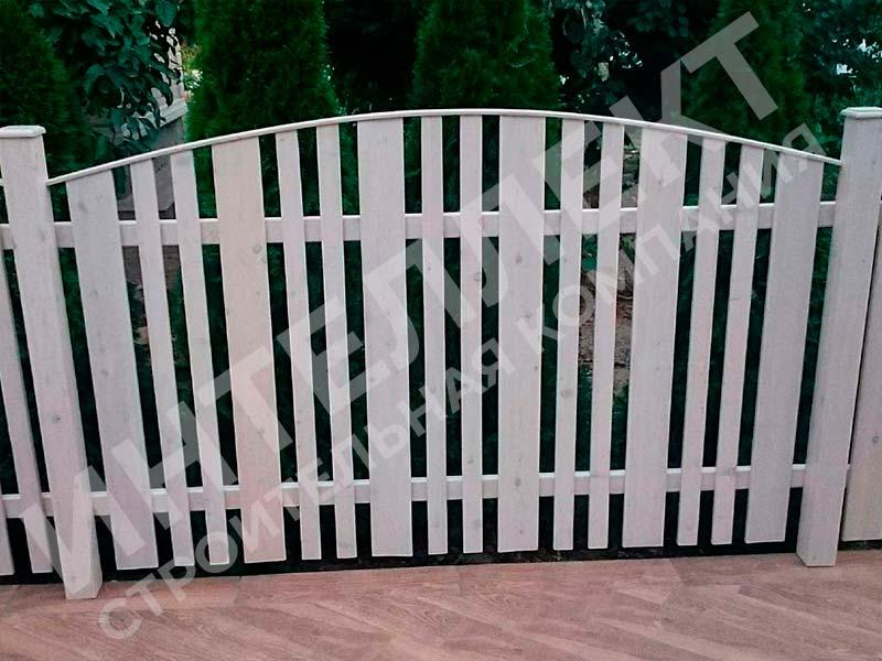 Деревянный забор - пример работы готового забора номер 5