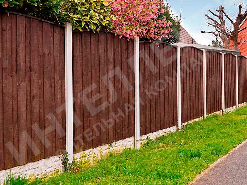 Деревянный забор - пример работы готового забора номер 6