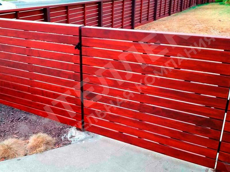 Деревянный забор - пример работы готового забора номер 8